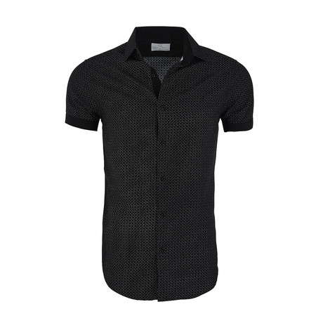 Lincoln Short-Sleeve Button-Up Shirt // Black (XS)