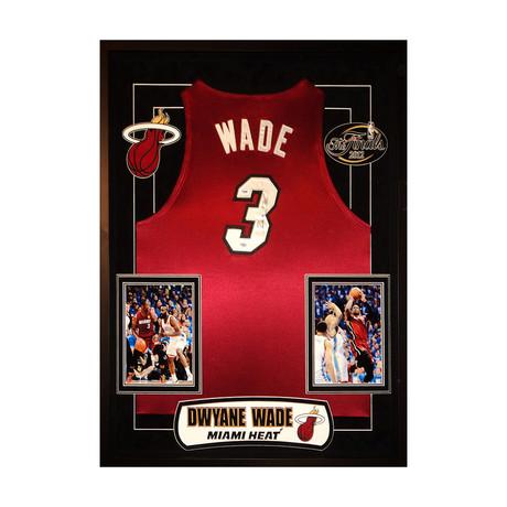 Signed + Framed Jersey // Dwayne Wade