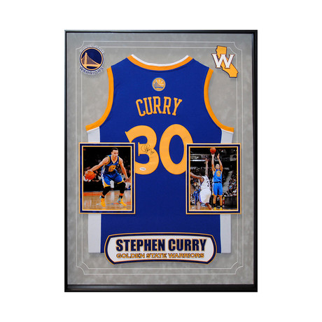 Signed + Framed Jersey // Stephen Curry