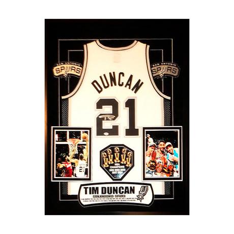 Signed + Framed Jersey // Tim Duncan