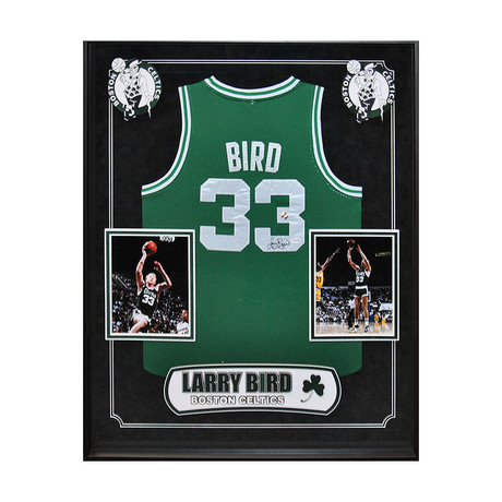 Signed + Framed Jersey // Larry Bird