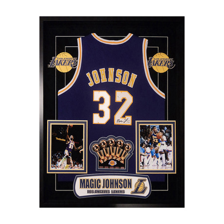 Signed + Framed Jersey // LA Lakers // Magic Johnson