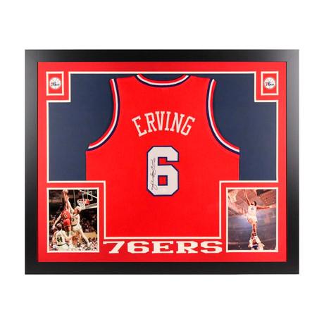 """Signed + Framed Jersey // Julius """"Dr. J"""" Erving"""