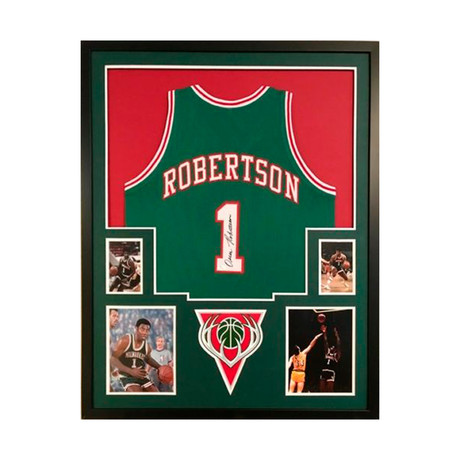 Signed + Framed Jersey // Oscar Robertson