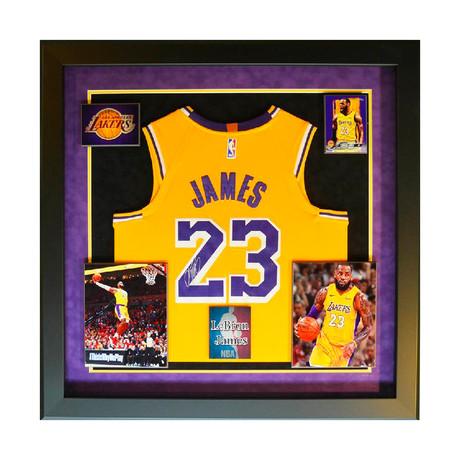 Signed + Framed Jersey // Lebron James
