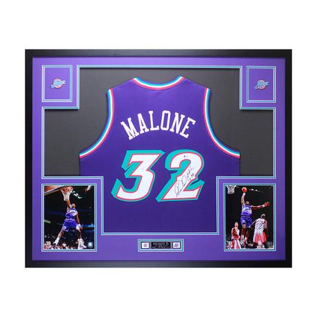 Signed + Framed Jersey // Karl Malone