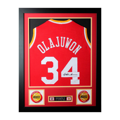 "Signed + Framed Jersey // Hakeem ""The Dream"" Olajuwon"