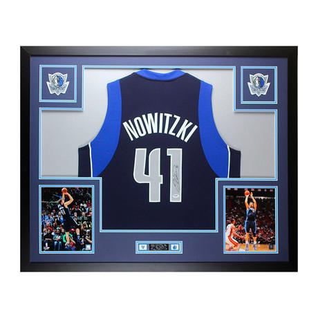 Signed + Framed Jersey // Dirk Nowitzki