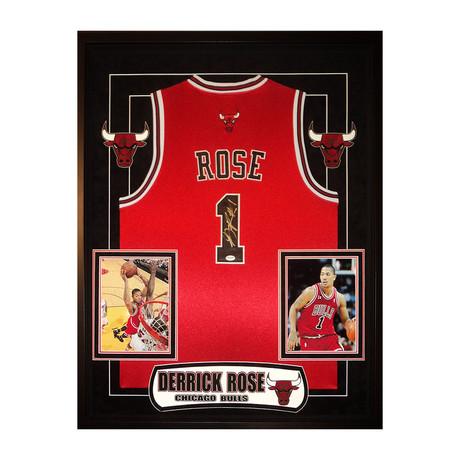 Signed + Framed Jersey // Derrick Rose