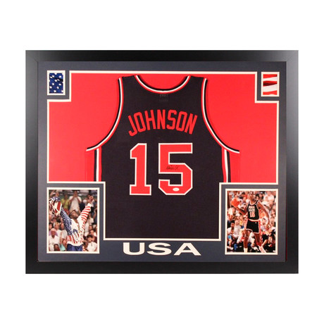 Signed + Framed Jersey // Team USA // Magic Johnson