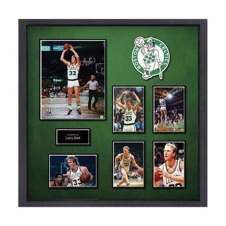 Signed + Framed Collage // Larry Bird