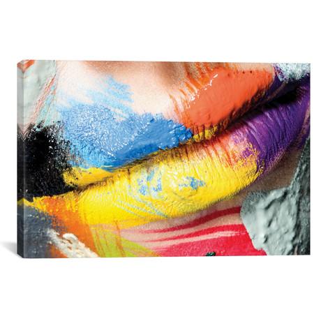 "Roberta`s Lips // Herve Dunoyer (26""W x 18""H x 0.75""D)"