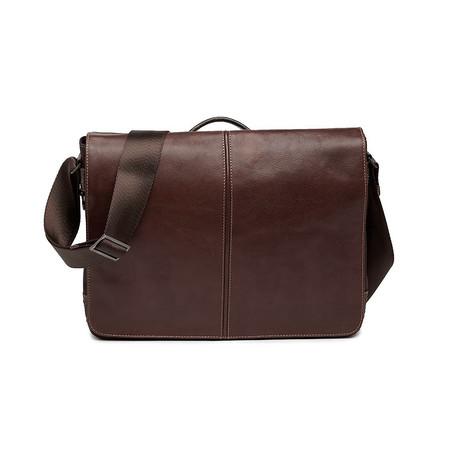 Garth Leather Messenger Bag (Cognac)