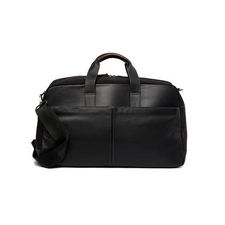 Garth Leather Commuter Duffle // Black