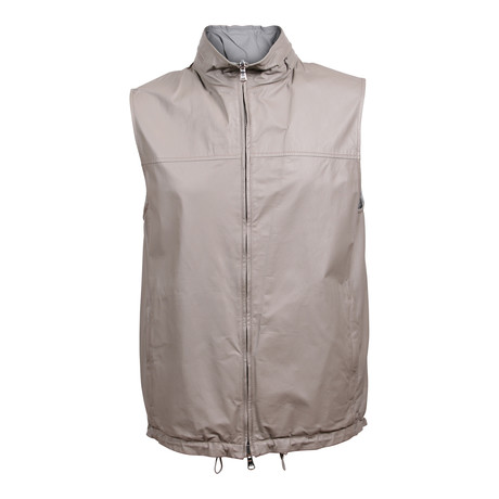 Balin Reversible Leather Vest // Gray (XS)