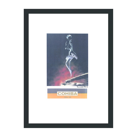"Cohiba Cigar Print // Pin Up in Smoke (12""W x 16""H x 2""D)"