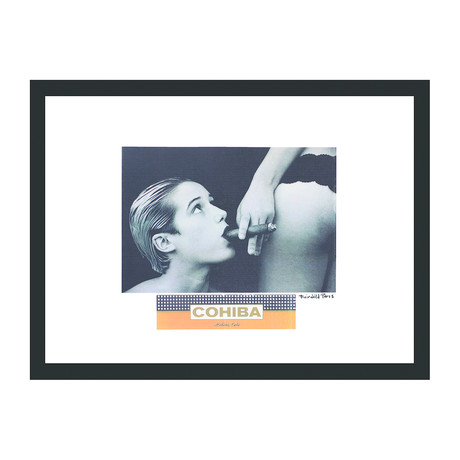 "Cohiba Cigar Print // Girl Time (16""W x 12""H x 2""D)"