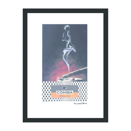 "Cohiba Cigar Print // Pin Up in Smoke Polka Dots (12""W x 16""H x 2""D)"