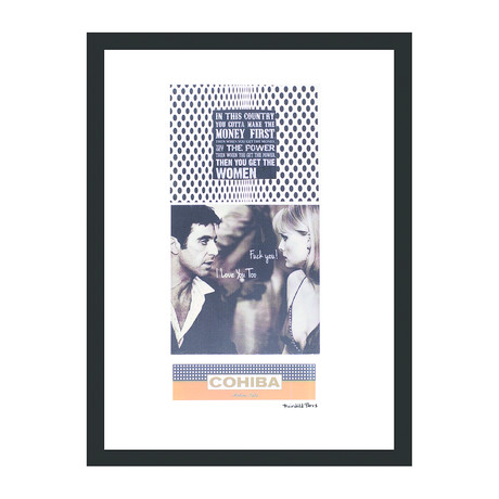 "Cohiba Cigar Print // Money + Women (12""W x 16""H x 2""D)"
