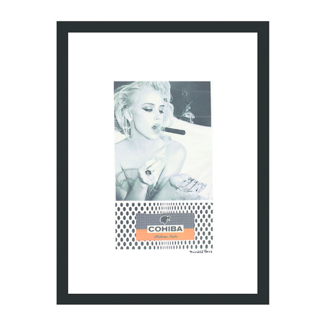 "Cohiba Cigar Print // Blondes Have More Fun (12""W x 16""H x 2""D)"