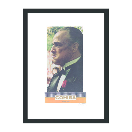 "Cohiba Cigar Print // Godfather (12""W x 16""H x 2""D)"