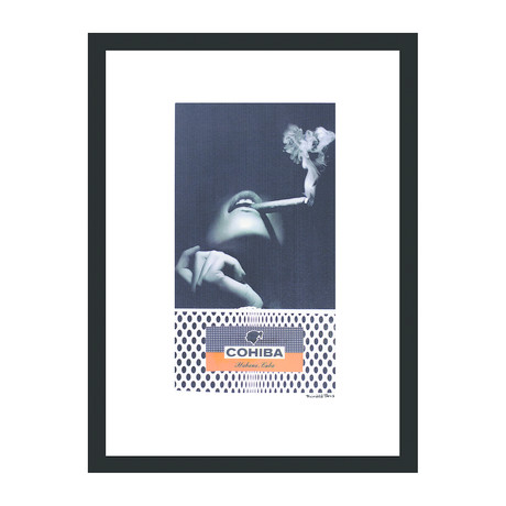 "Cohiba Cigar Print // Smoke Angel (12""W x 16""H x 2""D)"