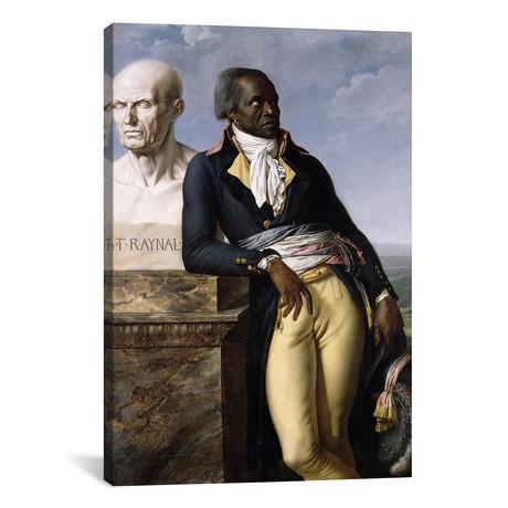 """Portrait Of Jean-Baptiste Belley // Anne-Louis Girodet de Roucy-Trioson (18""""W x 26""""H x 0.75""""D)"""