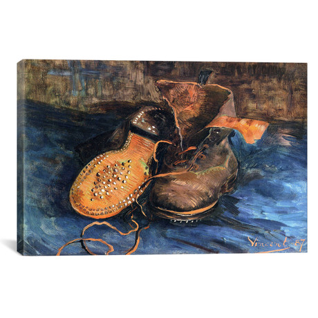 "A Pair of Shoes // Vincent van Gogh (26""W x 18""H x 0.75""D)"