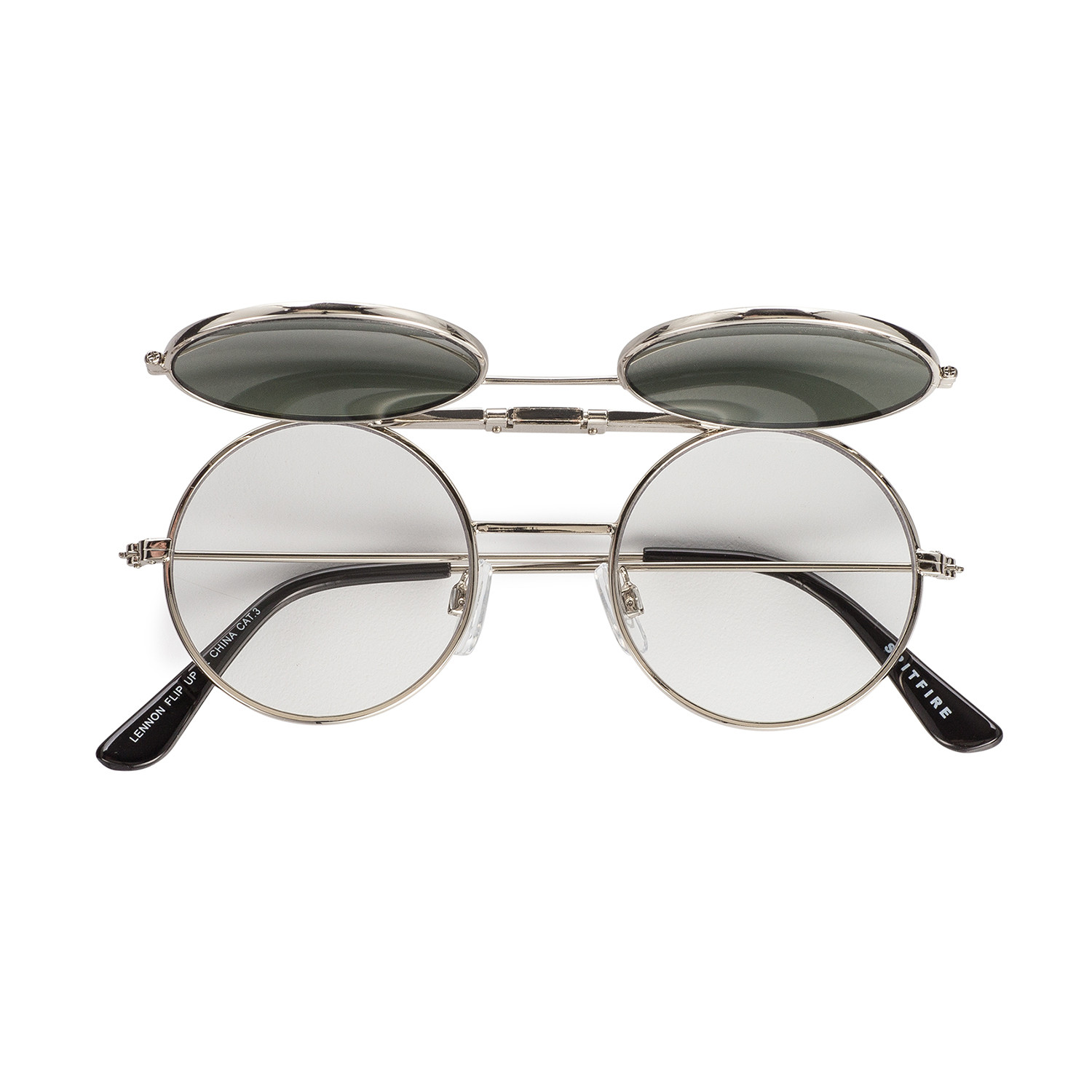 57621a8277105 Lennon Flip    Silver + Black - Spitfire Sunglasses - Touch of Modern