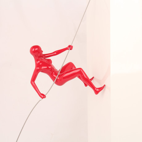 Red Climbing Woman
