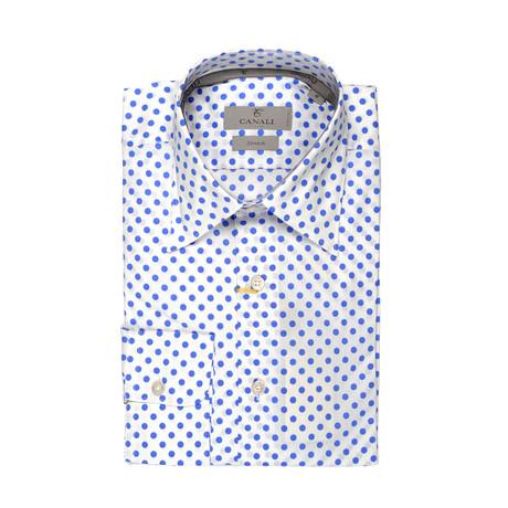 Stretch Polka Dot Shirt // White (XS)