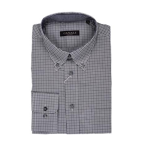 Regular Fit Check Dress Shirt // Gray (Euro: 39)