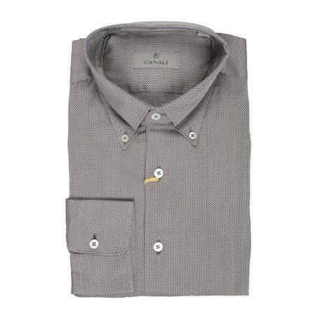 Geometric Slim Fit Shirt // Silver (XS)