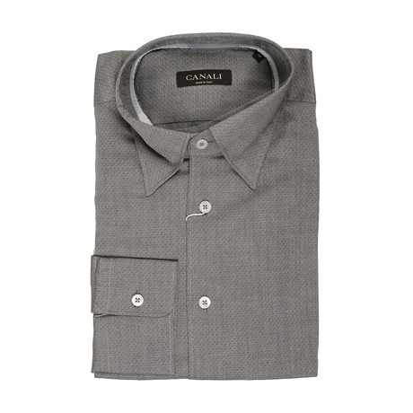 Geometric Modern Fit Shirt // Gray (XS)