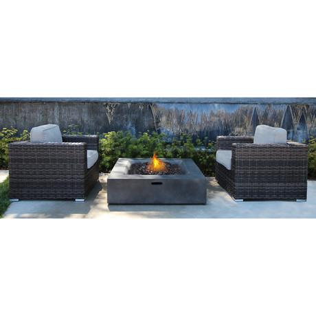 Marbella Fire Pit Set // 3 Pc