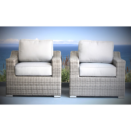 Del Ray Chairs with Cushion // Set of 2