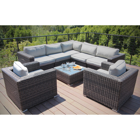 Marbella Double Club Sectional Set