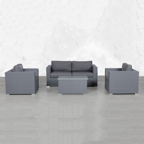 Resort Grade Mesh Modular Loveseat Double Club Set // 5 Pc