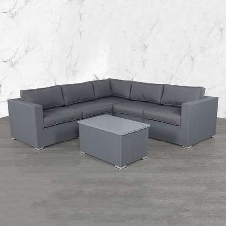 Resort Grade Mesh Pc Sectional // 6 Pc