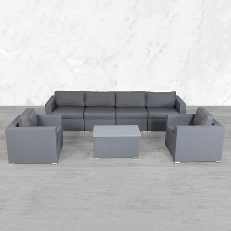 Resort Grade Mesh Modular Double Club Sofa Set // 7 Pc
