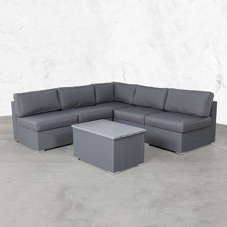 Resort Grade Mesh Modular Sectional Lounge Set // 6 Pc