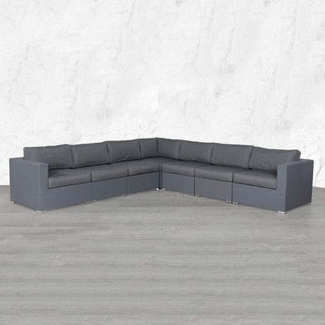 Resort Grade Mesh Modular Sectional // 7 Pc