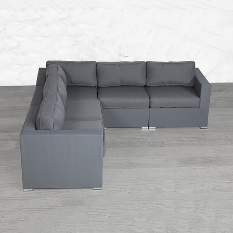 Resort Grade Mesh Modular Sectional // 5 Pc