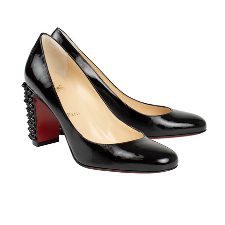 Women's // Patent Leather Marimalus 85 Pumps // Black (Euro: 35.5)