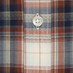 Checkered Pocket Button-Up Shirt // Cream + Red (S)