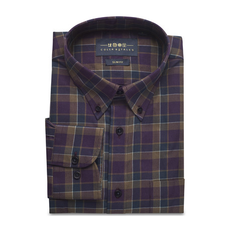 Checkered Pocket Button Down Shirt // Multicolored (S)