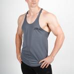 Mesh Back Stringer Vest // Gray (S)