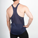 Mesh Back Stringer Vest // Navy (S)