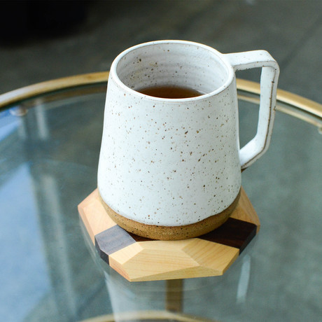 Geometric Hardwood Coasters // Set Of 4