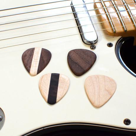 Hardwood Guitar Picks // Set Of 4